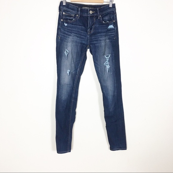 "Express High Rise Distressed Skinny ""legging"" Jean"